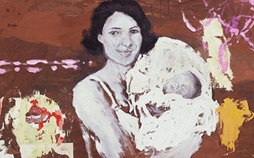 "© Lisa Kunit, ""Idylle I"" (Ausschnitt), Öl auf Leinwand, 80 x 110 cm, 1997"