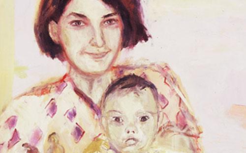 """© Lisa Kunit, """"Scheinbare Idylle IV"""" (Ausschnitt), Öl auf Leinwand, 60 x 85 cm, 1998"""