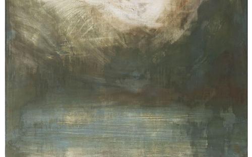 © Helmut Swoboda, Gosausee 3, Eitempera/Wachsemulsion auf Leinwand, 193 x 225 cm, 2002