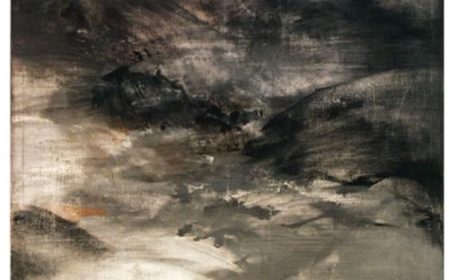 © Helmut Swoboda, Stillensteinklamm, Eitempera/Wachsemulsion auf Leinwand, 160 x 160 cm, 2001/2