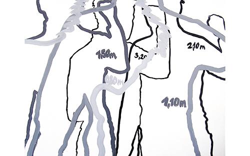 © Gabi Mitterer, 60 Watt, Acryl auf Baumwolle, 100 x 110 cm, 2004