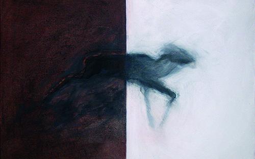 © Gerlinde Thuma, moment:moment 07, 50 x 70 cm, Kohle, Acryl /Leinwand