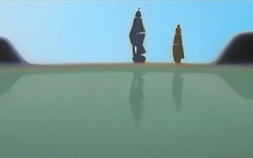 """© René Herar, Magellan (Ausschnitt), Serie """"Blurred Landscapes"""", Öl auf MDf-Platte, 50 x 120 cm, 2008"""