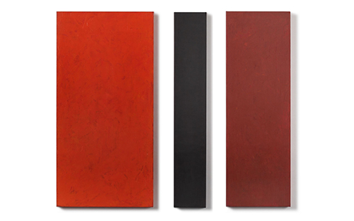 © Günther Wolfsberger, Modul-dreiteilig, Acryl/Leinen auf Holz kaschiert, 80 x 80 x 3,5 cm, 2005