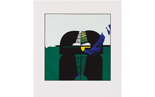 © Fritz Steinkellner, Salmannsdorf I, Siebdruck, 48 x 47,5 cm, 1969