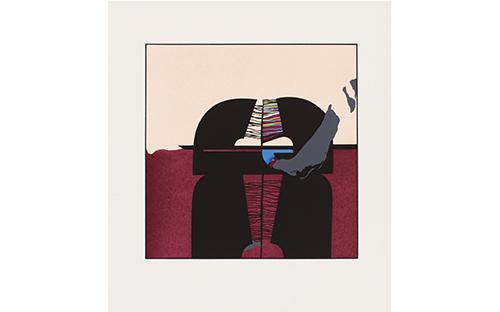 © Fritz Steinkellner, Salmannsdorf II, Siebdruck, 48 x 47,5 cm, 1969