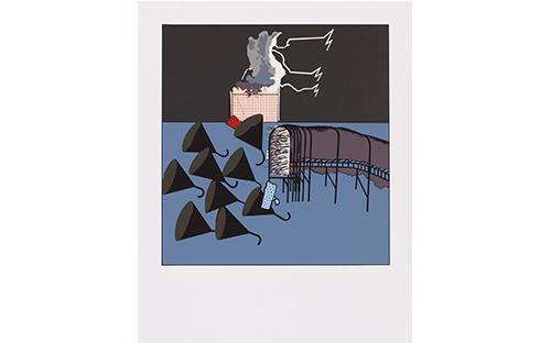 © Fritz Steinkellner, Stationen VIII, aus dem Mappenwerk: Stationen I-IX, Siebdruck, 58 x 54,5 cm,  1972