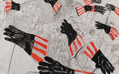 Zeichnung zu Hope eddies and microclimates Sally Mannall, 2012 © Linde Waber