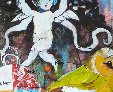 © Florian Nährer, Heaven is a place in your head (Ausschnitt), 2008-2009, Acryl auf Molino, 150x120 cm