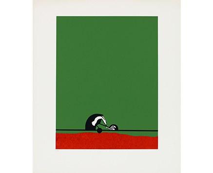 © Fritz Steinkellner, R 4, Siebdruck, 58 x 44 cm, 1970