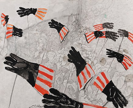 © Zeichnung zu Hope eddies and microclimates Sally Mannall, 2012, Linde Waber