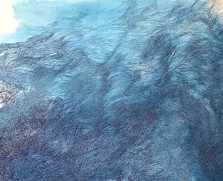 o.T., Tusche/Papier, 50 x 65 cm, 2018 (Ausschnitt)